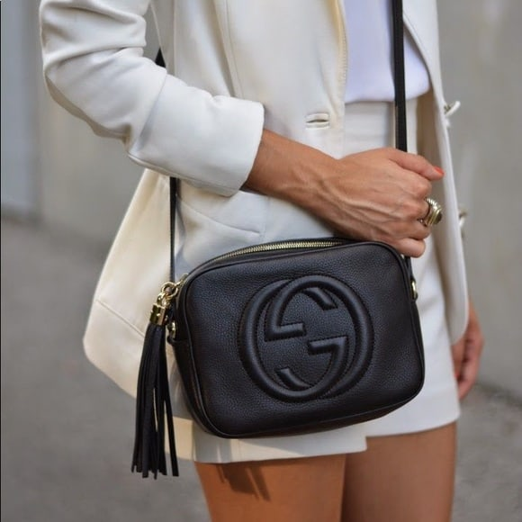 Gucci Soho Black Calfskin Leather Disco Bag