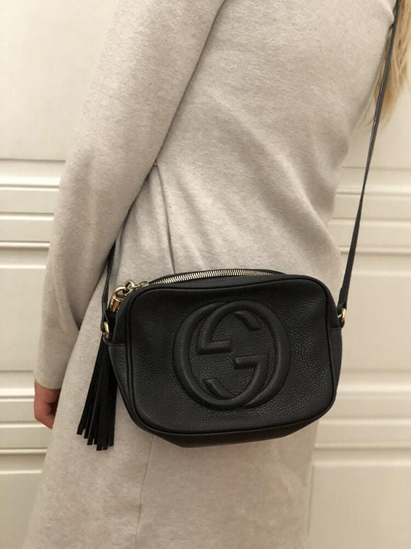Adjustable black leather strap